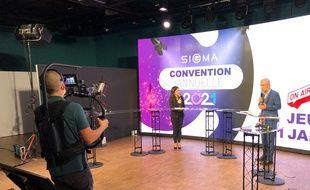 La société Sigma a choisi d'organiser sa convention annuelle à distance, via le studio de télévision de Mprod.