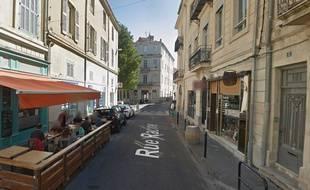 La rue Racine, à Nîmes, où l'automobiliste a foncé dans la foule, en pleine feria.
