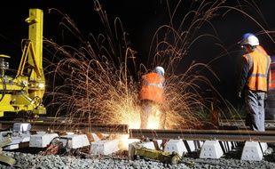 Le chantier de la ligne Nantes Angers s'est déroulé de nuit