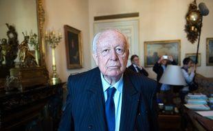 Jean-Claude Gaudin le 14 avril 2016 dans son bureau de la mairie de Marseille