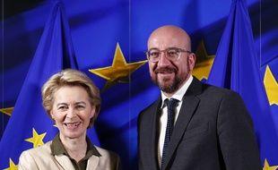 Le président du Conseil européen, Charles Michel et la présidente de la Commission européenne, Ursula von der Leyen, le 19 novembre 2019 à Bruxelles.