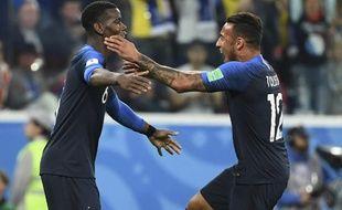 Pobga et Tolisso fous de joie après la victoire contre la Belgique.