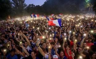 La retransmission de la demi-finale France-Belgique sur la prairie des filtres à Toulouse.