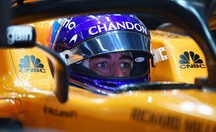 Fernando Alonso lors du GP d'Azerbaïdjan.