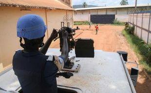 Des patrouilles à Bangui, le 3 octobre 2015