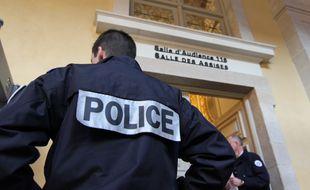 L'entrée de la salle de cour d'assises d'Ille-et-Vilaine, dans le Parlement de Bretagne, à Rennes.