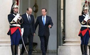 François Hollande a reçu le chef de l'opposition syrienne Ahmad al-Assi al-Jarba à l'Elysée le 29 août 2013.