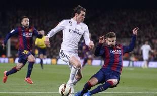 Gareth Bale lors du match entre le Real Madrid et le FC Barcelone le 22 mars 2015.
