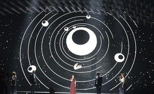Boogie représente la Hongrie à l'Eurovision 2015. Ici, lors de la première demi-finale qui s'est déroulée le 19 mai 2015 à Vienne.