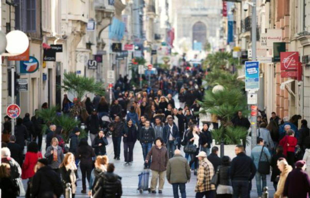 Une rue commerçante à Marseille, le 14 février 2014 – BERTRAND LANGLOIS AFP