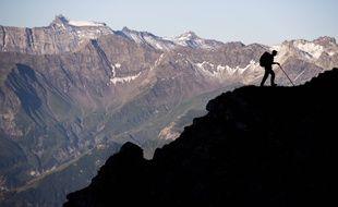 Près du Falknis dans les Alpes, entre le Liechtenstein et la Suisse.