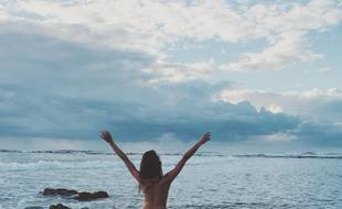 Capture d'écran du compte de «la blogueuse nue» sur Instagram