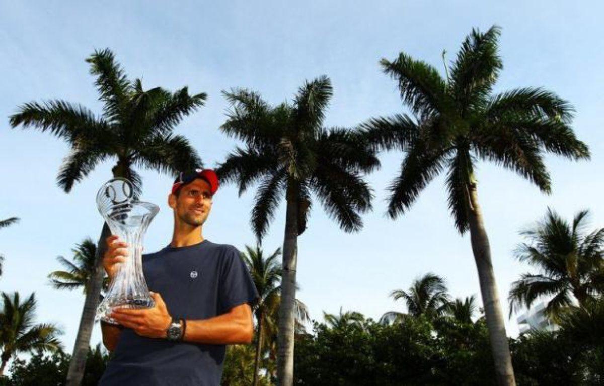 Le N.1 mondial Novak Djokovic, vainqueur de deux des trois principaux tournois du début de saison, l'Open d'Australie fin janvier et le Masters 1000 de Miami dimanche, se présente sur la saison de terre battue avec un énorme appétit et des espoirs légitimes. – Al Bello afp.com