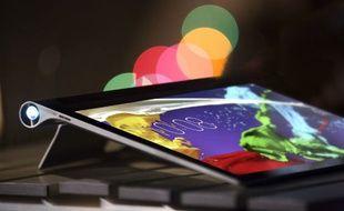 La tablette peut projeter des images jusqu'à 50 pouces de diagonale.