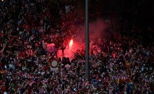 Ils étaient des milliers samedi soir à fêter le titre de champion d'Espagne de l'Atlético.