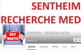 Une page Facebook a été ouverte pour que la commune de Sentheim trouve un médecin.