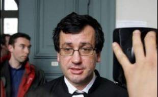 Maître Didier Seban, avocat de la famille de Jeanne-Marie Desramault. Ici, au palais de justice d'Amiens dans une autre affaire, le 31 janvier 2005.