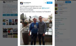 René Malleville a bu son café avec le président Eyraud ce mardi 22 novembre