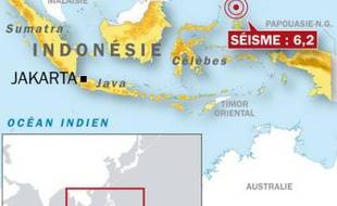 Un séisme d'une magnitude de 6,2 Fort séisme de 6,2 s'est produit au large de l'île indonésienne des Célèbes le 13 octobre 2009.
