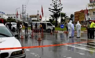 La police tunisienne se déploie après l'attaque à Sousse, le 6 septembre 2020.