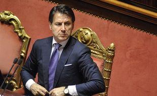 Giuseppe Conte au Sénat, le 5 juin 2018.