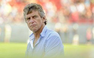 L'entraîneur lorientais Christian Gourcuff, le 20 août 2011, à Dijon.