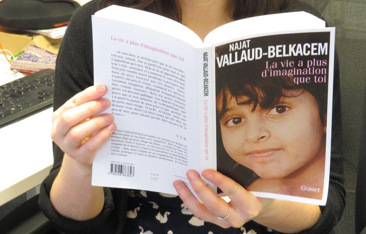 La couverture de l'autobiographie de Najat Vallaud-Belkacem. – D.Bancaud/20minutes