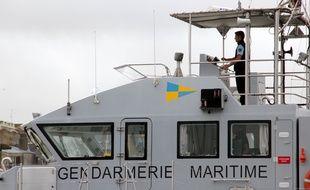 La gendarmerie maritime patrouille ici au large de Saint-Malo.