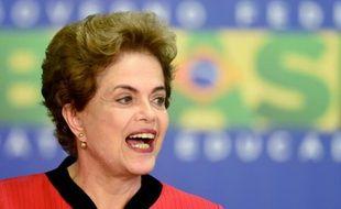 La présidente brésilienne Dilma Rousseff, le 2 mars 2016 à Brasilia