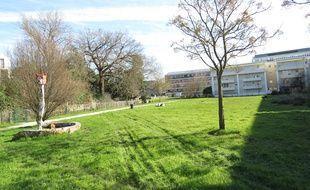 A Bordeaux, le 17 février 2016, le jardin de ta soeur va accueillir provisoirement une école car le terrain initial est pollué au radium.