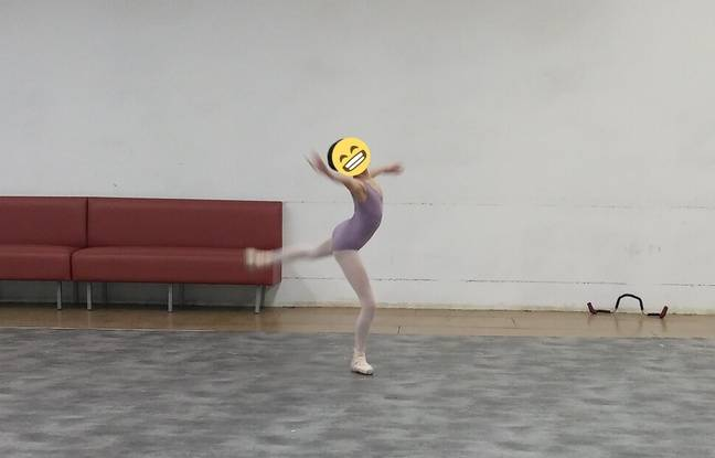 Une petite danseuse un peu crispée mais talentueuse pendant le casting.