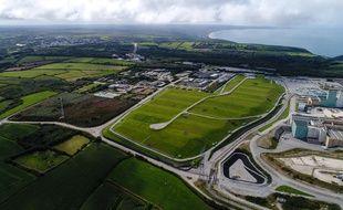 Vue aérienne du centre de stockage de la Manche, à La Hague.