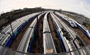 Des trains en gare (image d'illustration).