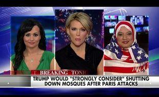 Saba Ahmed (droite), invitée du Kelly File sur Fox News, le 17 novembre 2015.