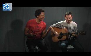Stephan Rizon au studio de «20 Minutes»