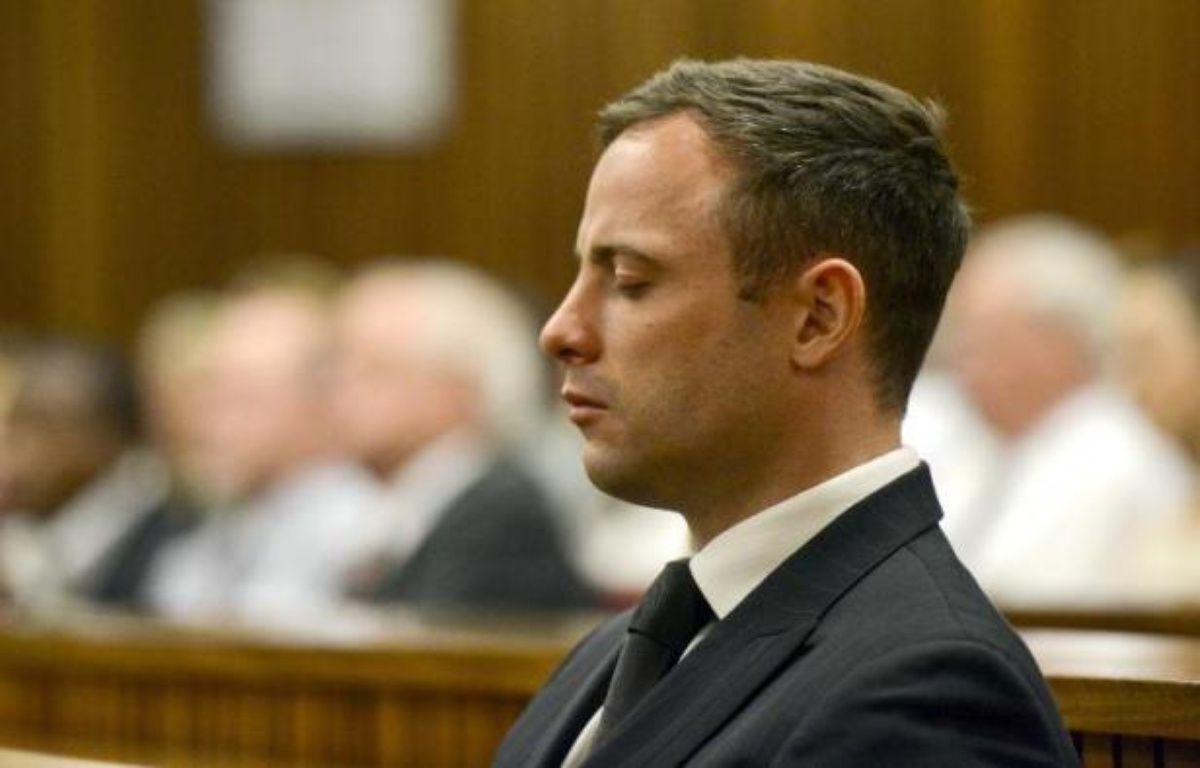 Oscar Pistorius à l'énoncé du verdict le 21 octobre 2014 au tribunal à Pretoria – Herman Verwey Pool