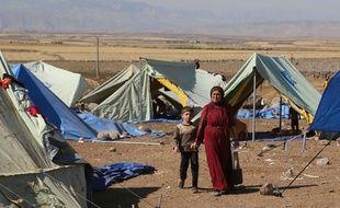 Réfugiés de la communauté yazidie en Syrie le 12 août 2014.