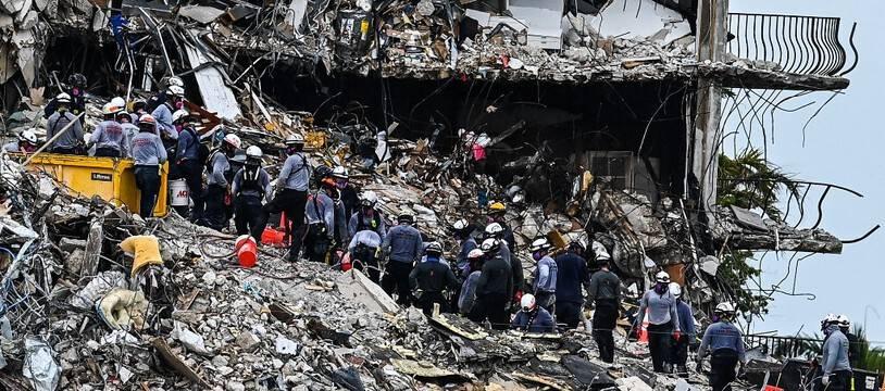L'immeuble effondré en Floride, illustration