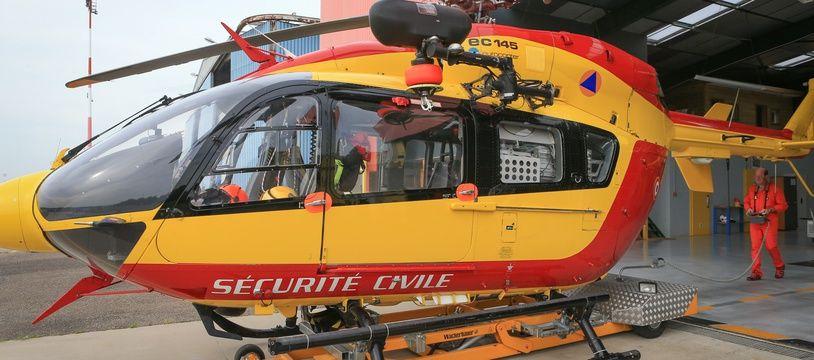 L'un des deux adolescents blessés a dû être évacué en hélicoptère vers Strasbourg. Illustration