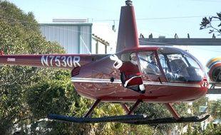 Un Père Noël en hélicoptère en Floride (illustration).