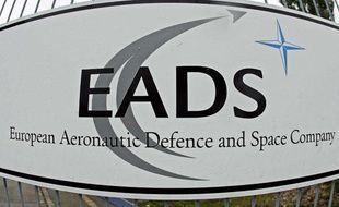 Le logo EADS à Augsburg en Allemagne.