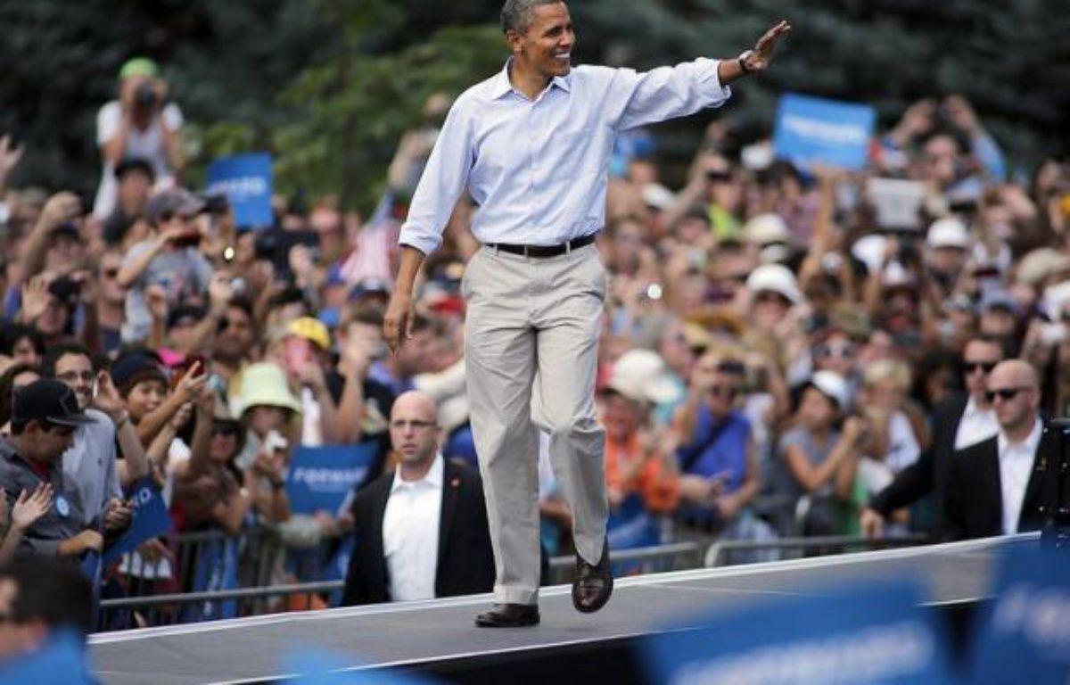 Le suspense reste entier dans une course à la Maison Blanche acharnée entre Mitt Romney, fraîchement investi par les républicains, et le sortant Barack Obama qui va tenter cette semaine de convaincre les Américains encore indécis qu'il mérite un second mandat. – Marc Piscotty afp.com