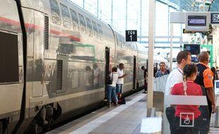 TGV Océane en gare Saint-Jean à Bordeaux, le 11 juillet 2018.