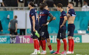 La déception des Bleus après l'élimination en 8e de finale de l'Euro 2021 contre la Suisse.