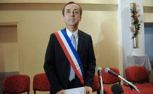 Le maire de Béziers, Robert Ménard, le 4 avril 2014 lors de son premier conseil municipal