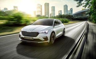 « Le concept Vision RS donne un aperçu de la prochaine génération de Skoda Rapid.