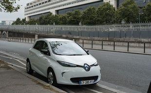 Une Renault Zoe.