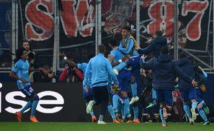 L'OM fête sa qualification en finale de la Ligue Europa.