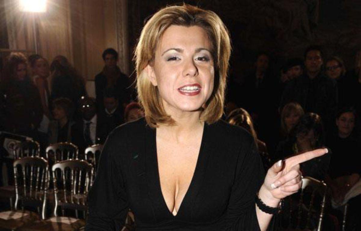 Cindy Lopes, ex-candidate de Secret Story 3, au defilé Eva Minge a l'hôtel Crillon à Paris le 25 janvier 2010. – COMBE CYRIL/SIPA