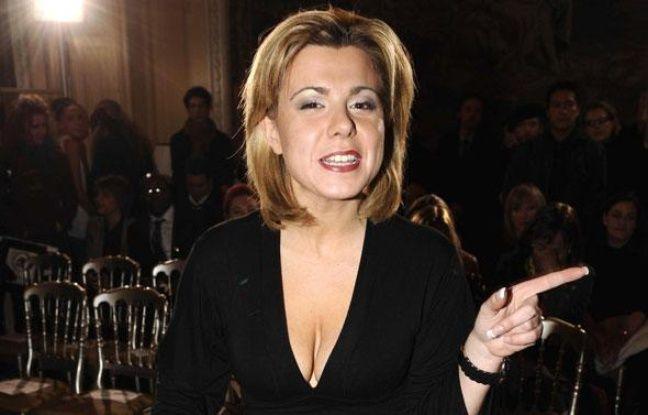 Cindy Lopes, ex-candidate de Secret Story 3, au defilé Eva Minge a l'hôtel Crillon à Paris le 25 janvier 2010.